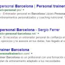 Entrenador personal o personal trainer Barcelona
