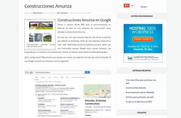 Construcciones Amuriza y entorno web